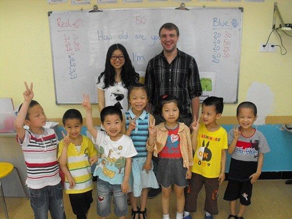 Greg Clark - Kinder Class with my TA Vivian