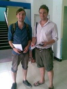 Fellow Teacher Mike and Me