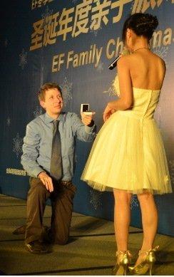Sean Healy proposing