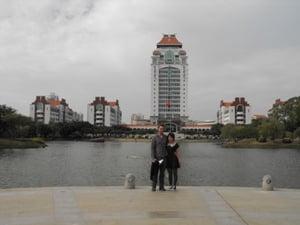 Greg and Jamie - Xiamen University
