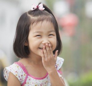 Chinese kid laughing