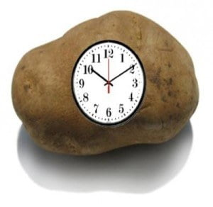 a potato clock