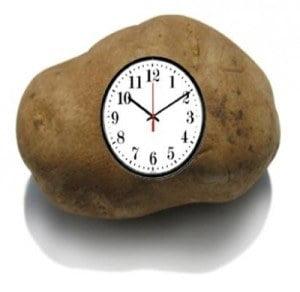 a potato clock