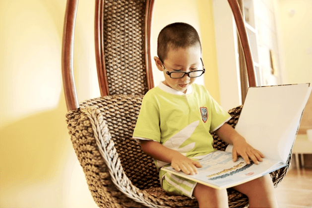 Kindergarten - boy reading