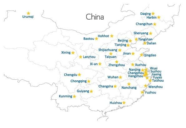 China Map In English.China Map No Click Text Teach English In China Current Tefl